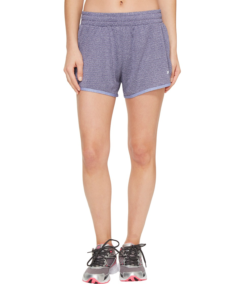 Fila - Easy On Shorts (Great Escape Heather/Deep Periwinkle Heather) Women's Shorts