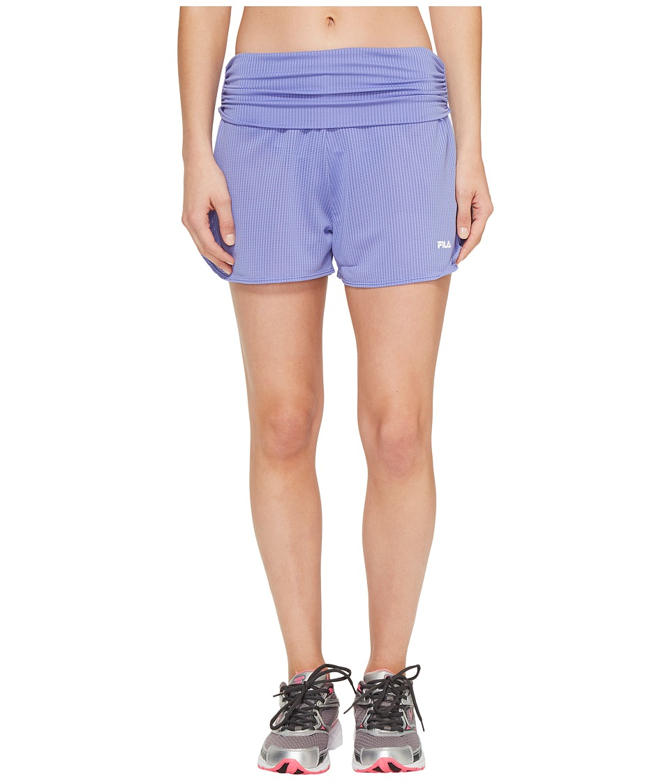 Fila - Infinity Shorts (Deep Periwinkle/Black) Women's Shorts