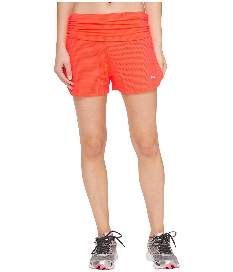 Fila Infinity Shorts (Bursting Marmalade Heather) Women