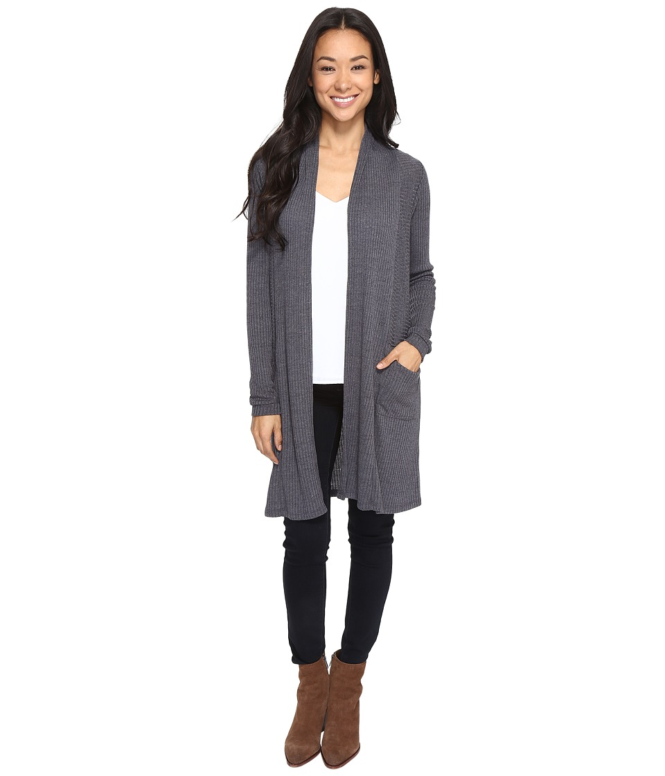 Brigitte Bailey - Jann Ribbed Cardigan with Pockets (Grey) Women's Sweater
