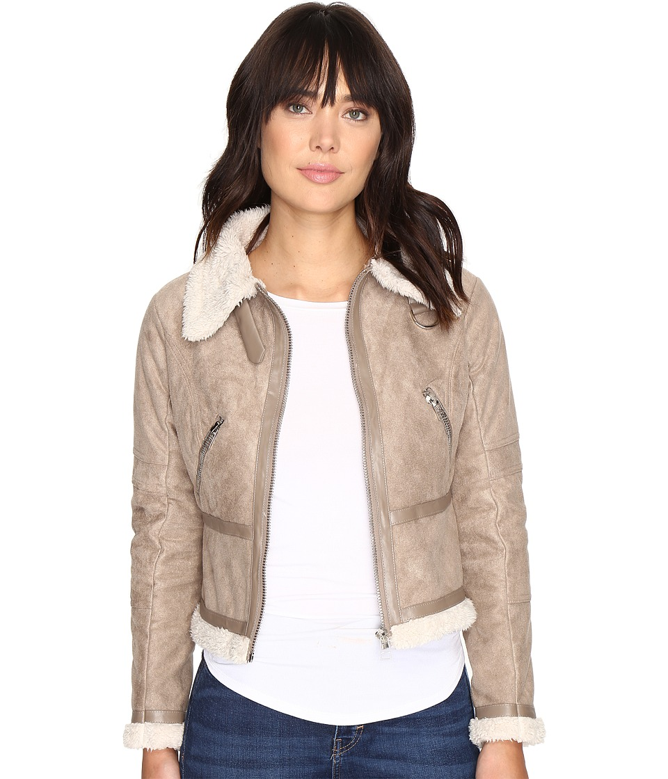 Brigitte Bailey - Colleen Collared Jacket with Zipper (Light Grey) Women's Coat