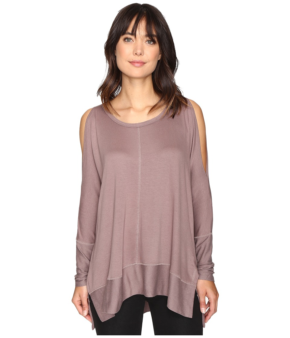 Culture Phit - Andreea Top with Side Slits (Mocha) Women's Clothing