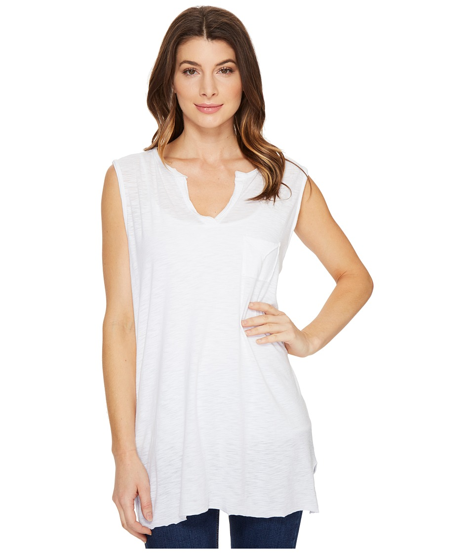 Culture Phit - Nima Sleeveless Top with Pocket (White) Women's Sleeveless