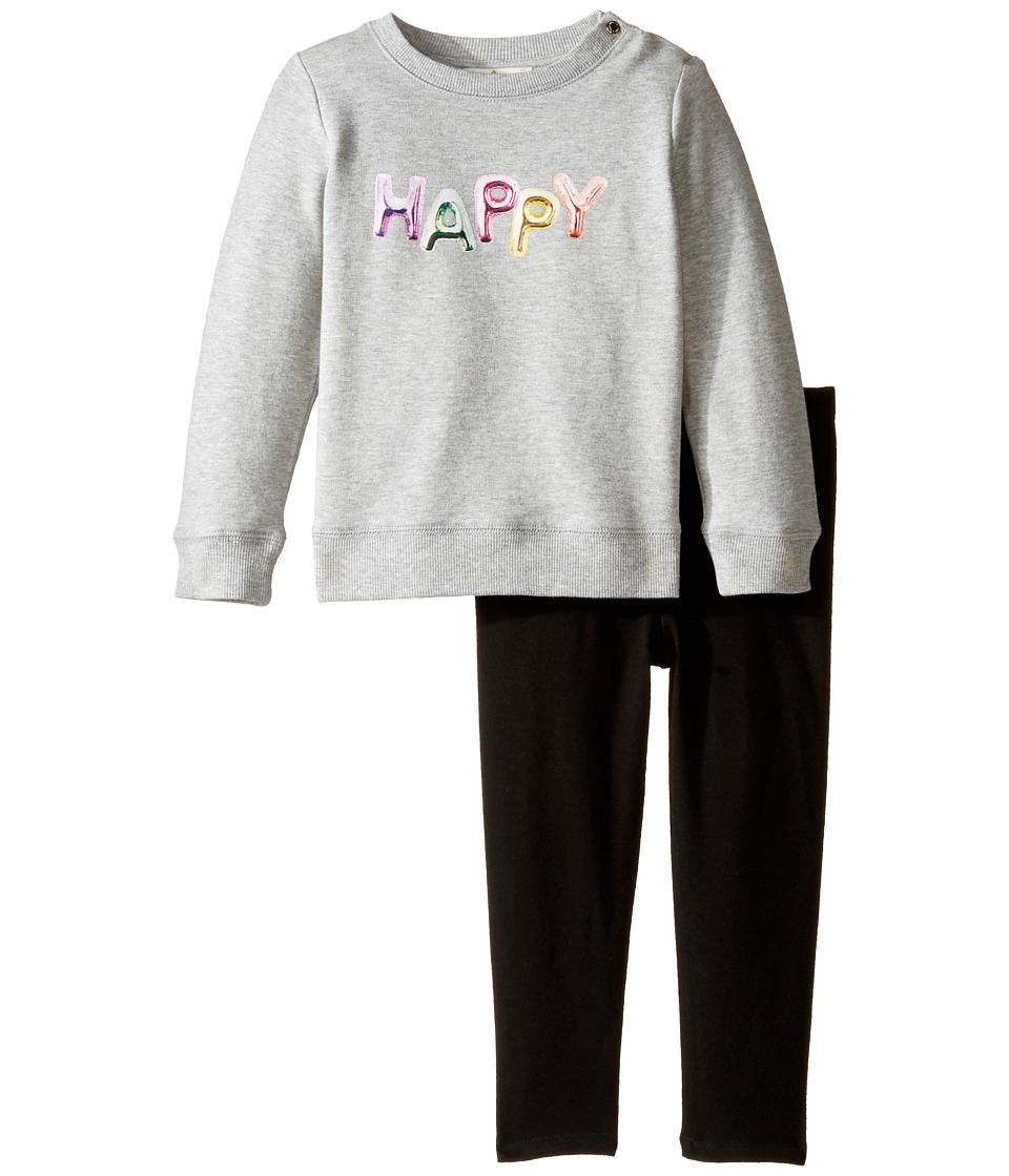 Kate Spade New York Kids - Happy Set (Infant) (Heather Grey) Girl's Active Sets