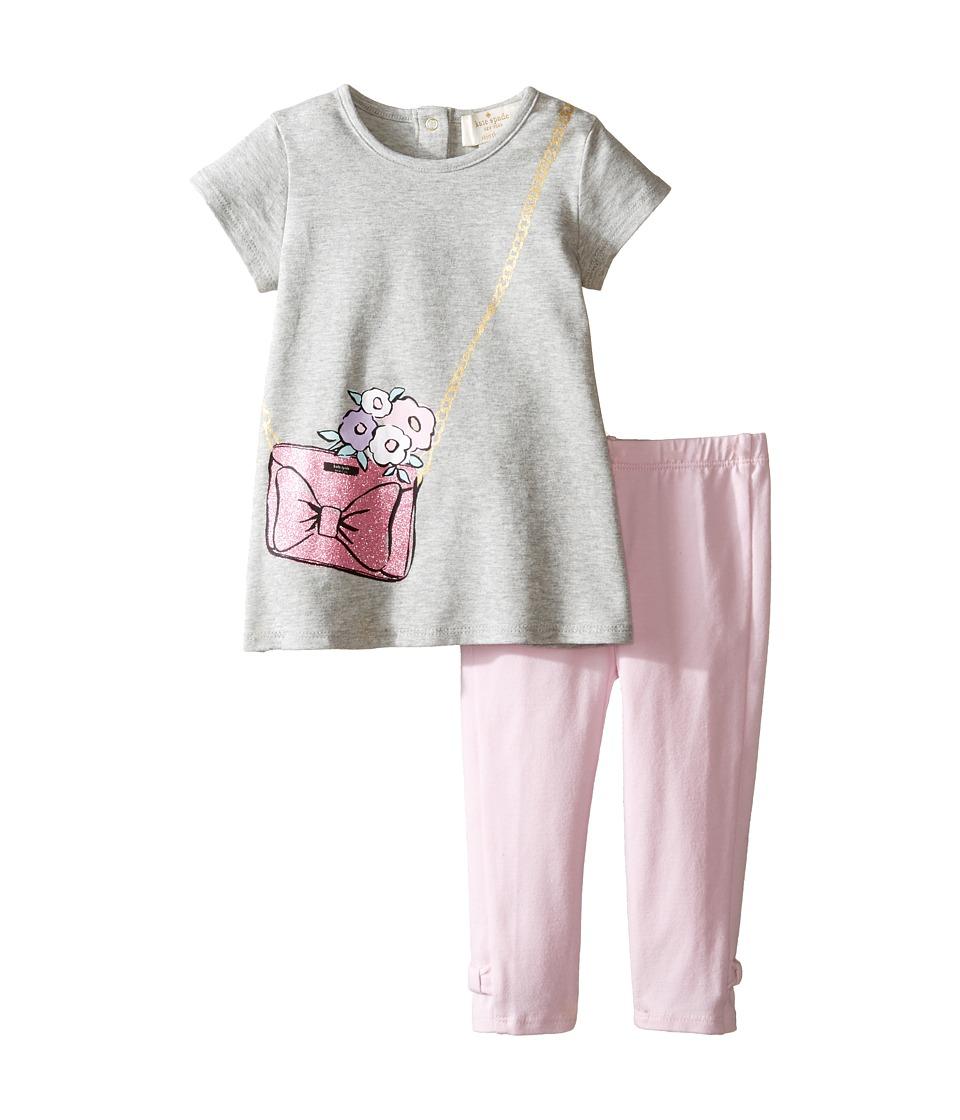 Kate Spade New York Kids - Tenley Set (Infant) (Heather Grey) Girl's Active Sets
