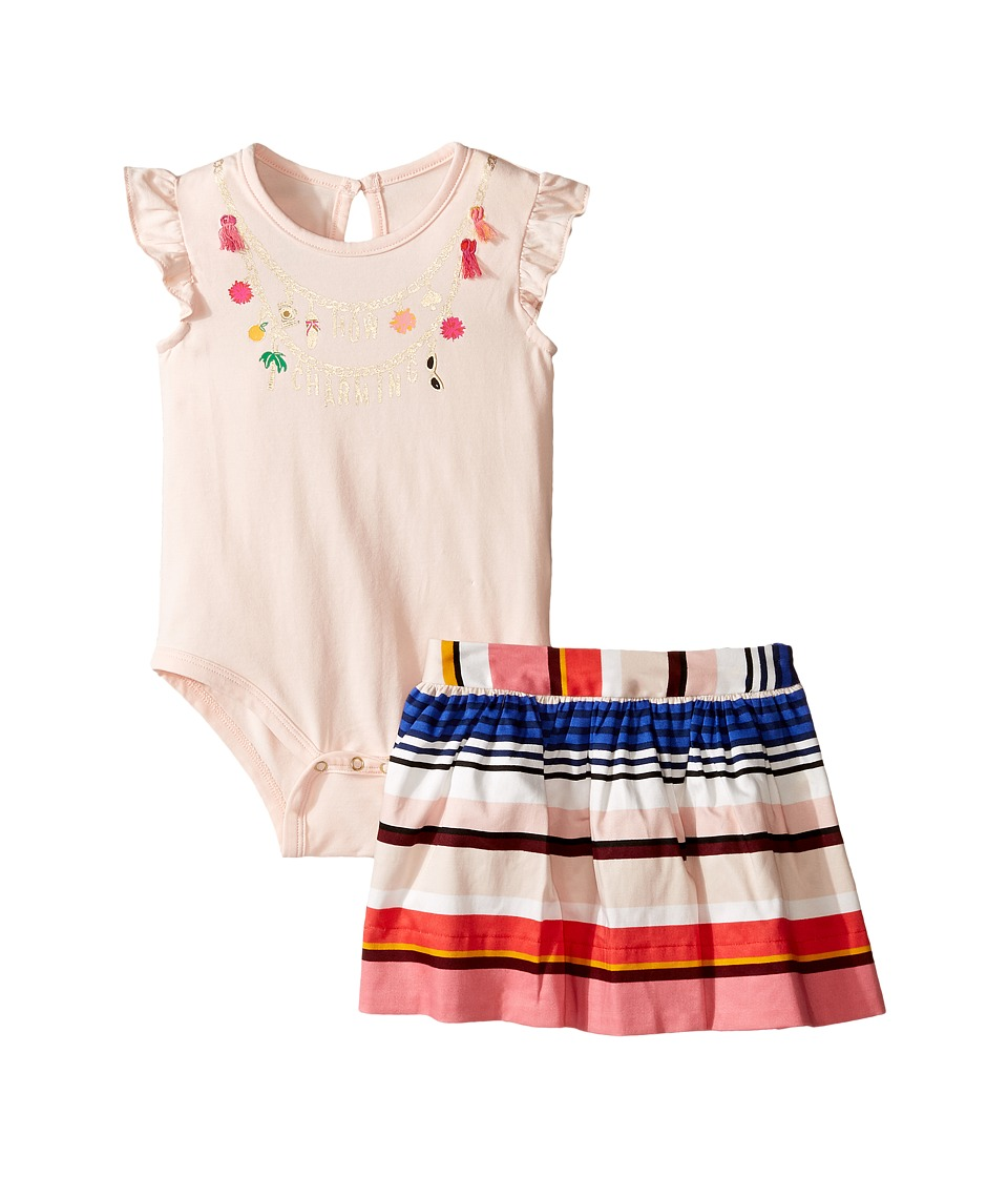Kate Spade New York Kids - How Charming Skirt Set (Infant) (Pink Sand/Berber Stripe) Girl's Active Sets