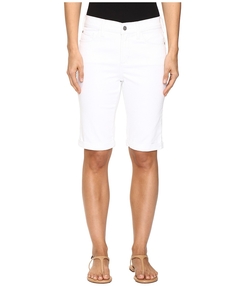 NYDJ - Briella Roll Cuff Shorts in Optic White (Optic White) Women's Shorts