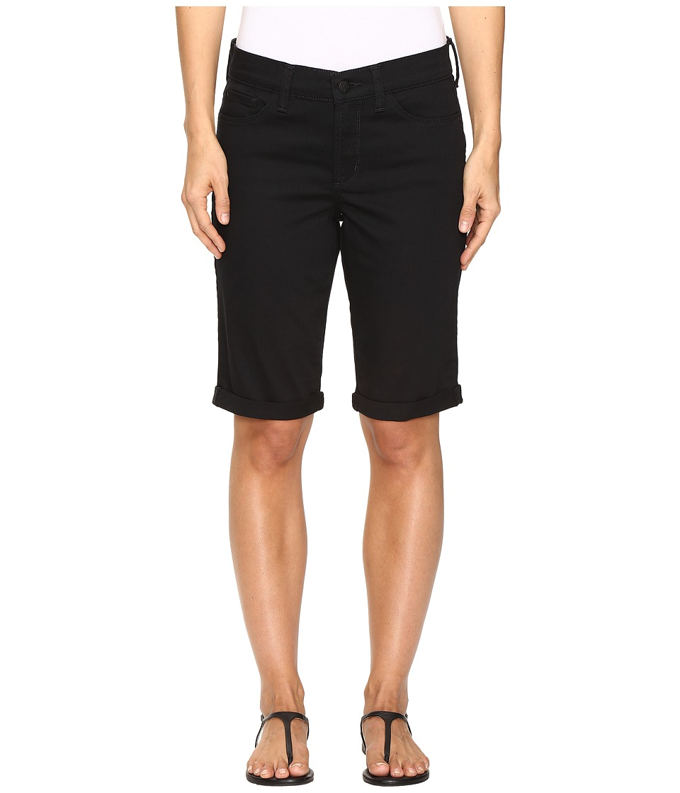 NYDJ - Briella Roll Cuff Shorts in Black (Black) Women's Shorts
