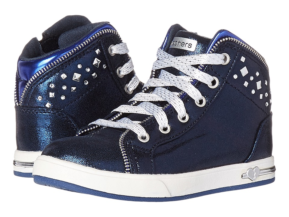 SKECHERS KIDS - Shoutouts-Zipsters (Toddler) (Navy) Girl's Shoes