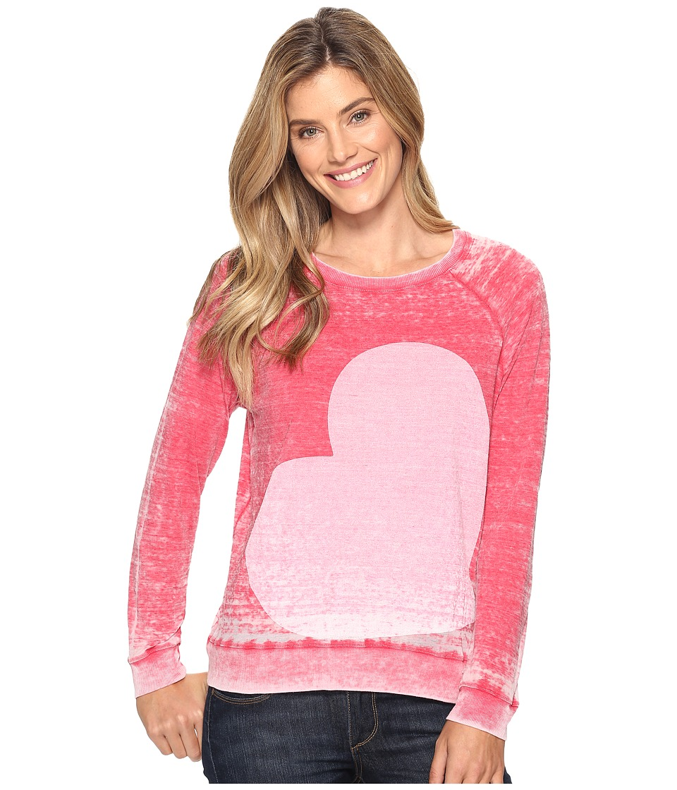 Allen Allen - Side Heart Print Sweatshirt (Modern Red) Women's Sweatshirt