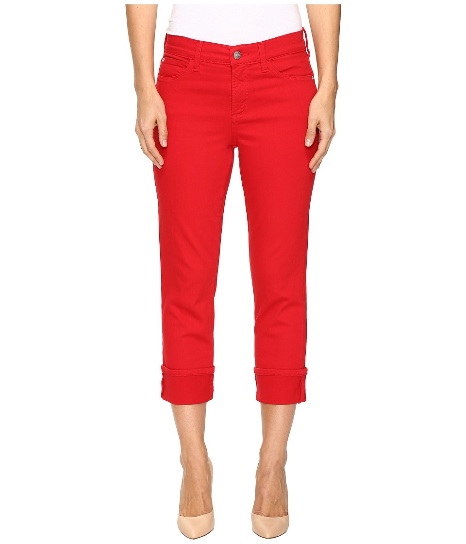 NYDJ Dayla Wide Cuff Capris in Sweet Strawberry (Sweet Strawberry) Women