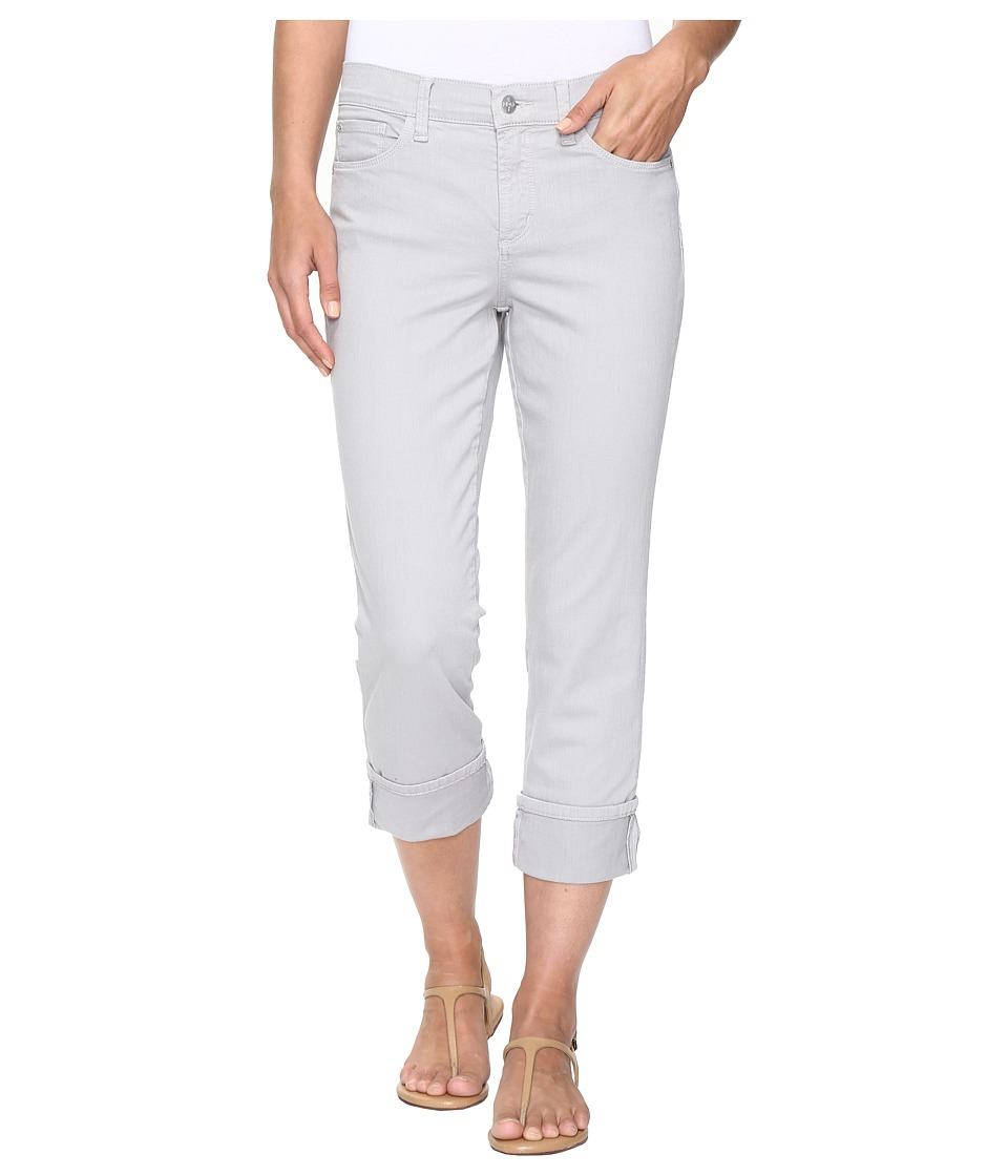 NYDJ Dayla Wide Cuff Capris in Moonstone Grey (Moonstone Grey) Women