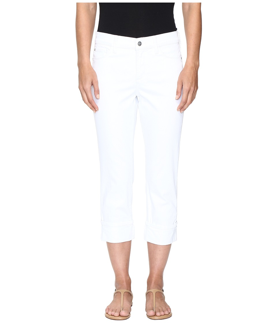 NYDJ Dayla Wide Cuff Capris in Optic White (Optic White) Women