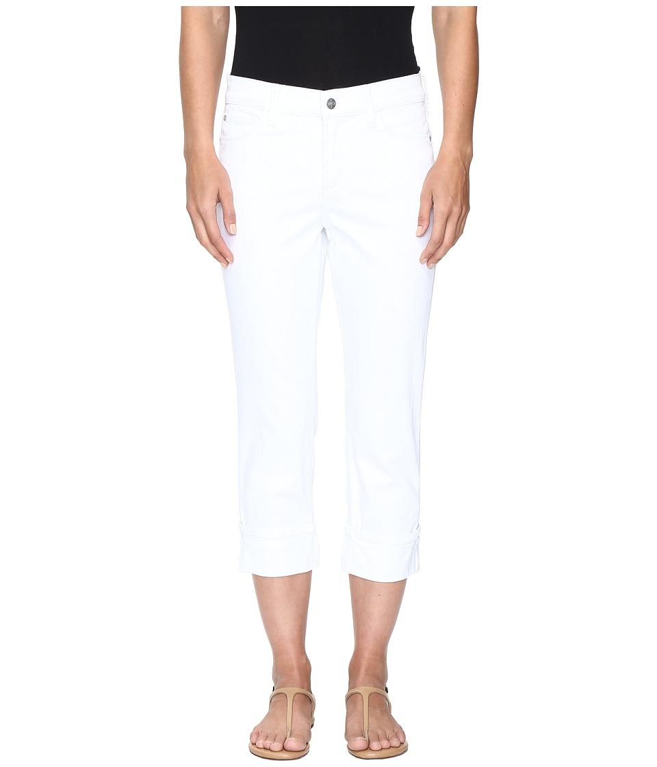 NYDJ - Dayla Wide Cuff Capris in Optic White (Optic White) Women's Capri
