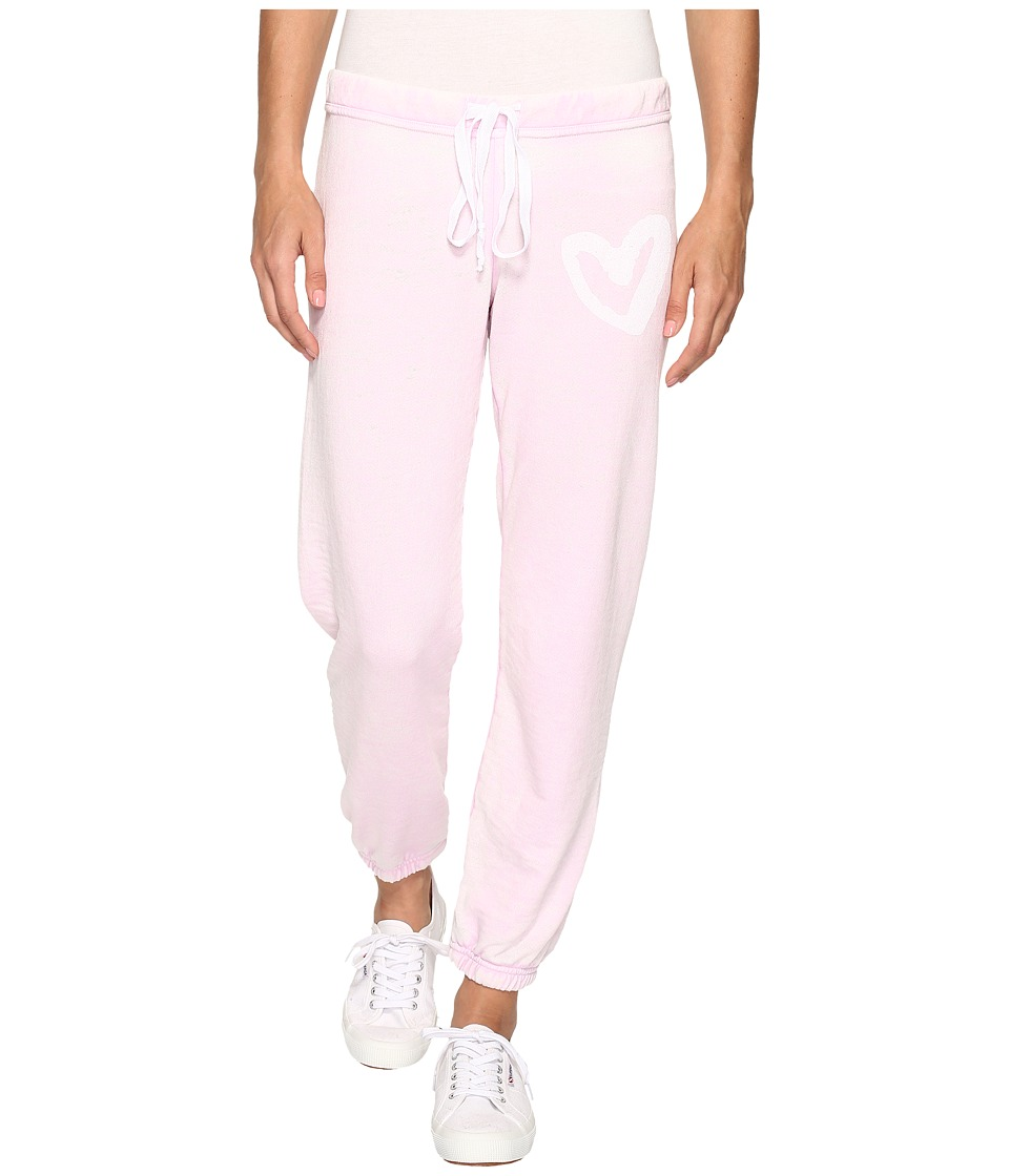 Allen Allen - Heart Print Sweatpants (Pink Lady) Women's Casual Pants
