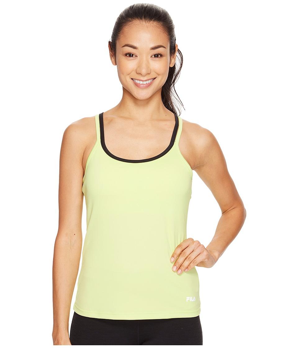 Fila - Obstacle Course Tank Top (Sharp Green/Black) Women's Sleeveless