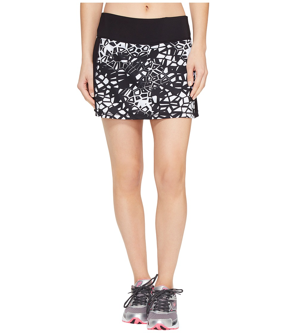 Fila - Camera Ready Skorts (Black/Mosaic Print) Women's Skort