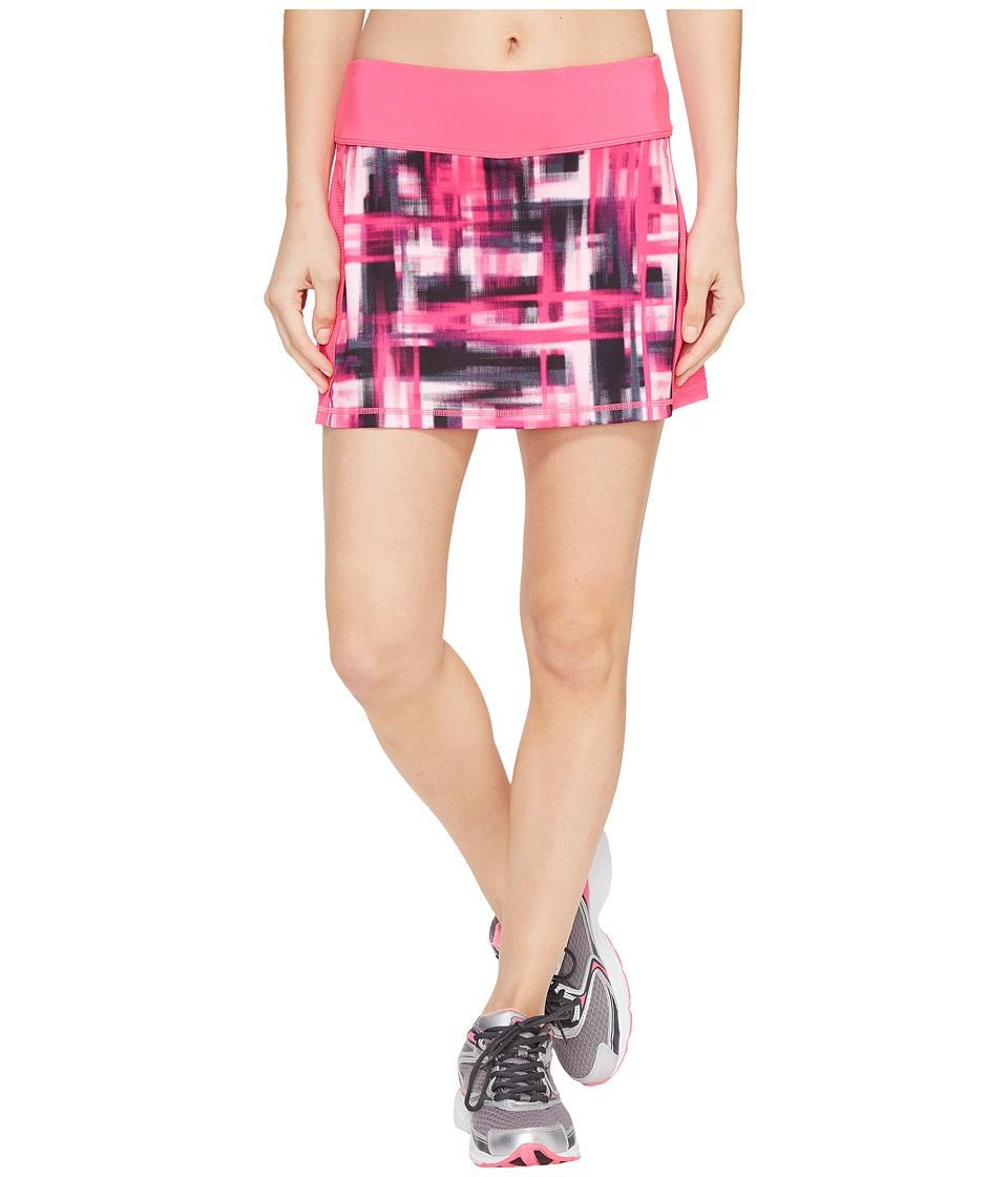 Fila - Camera Ready Skorts (Pink Glo/Blur Plaid Print) Women's Skort