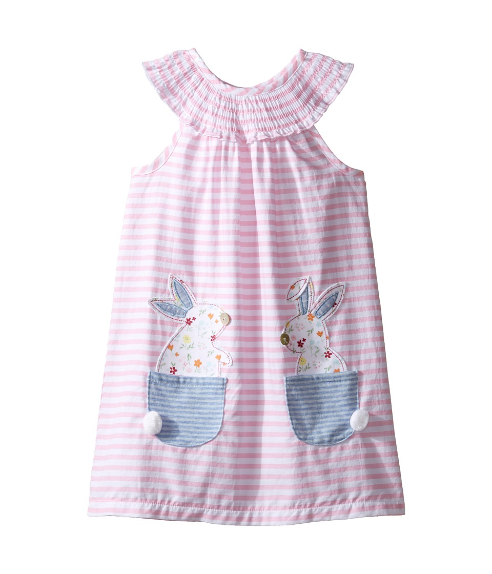 Mud Pie - Bunny Pocket Dress (Toddler) (Pink) Girl's Dress