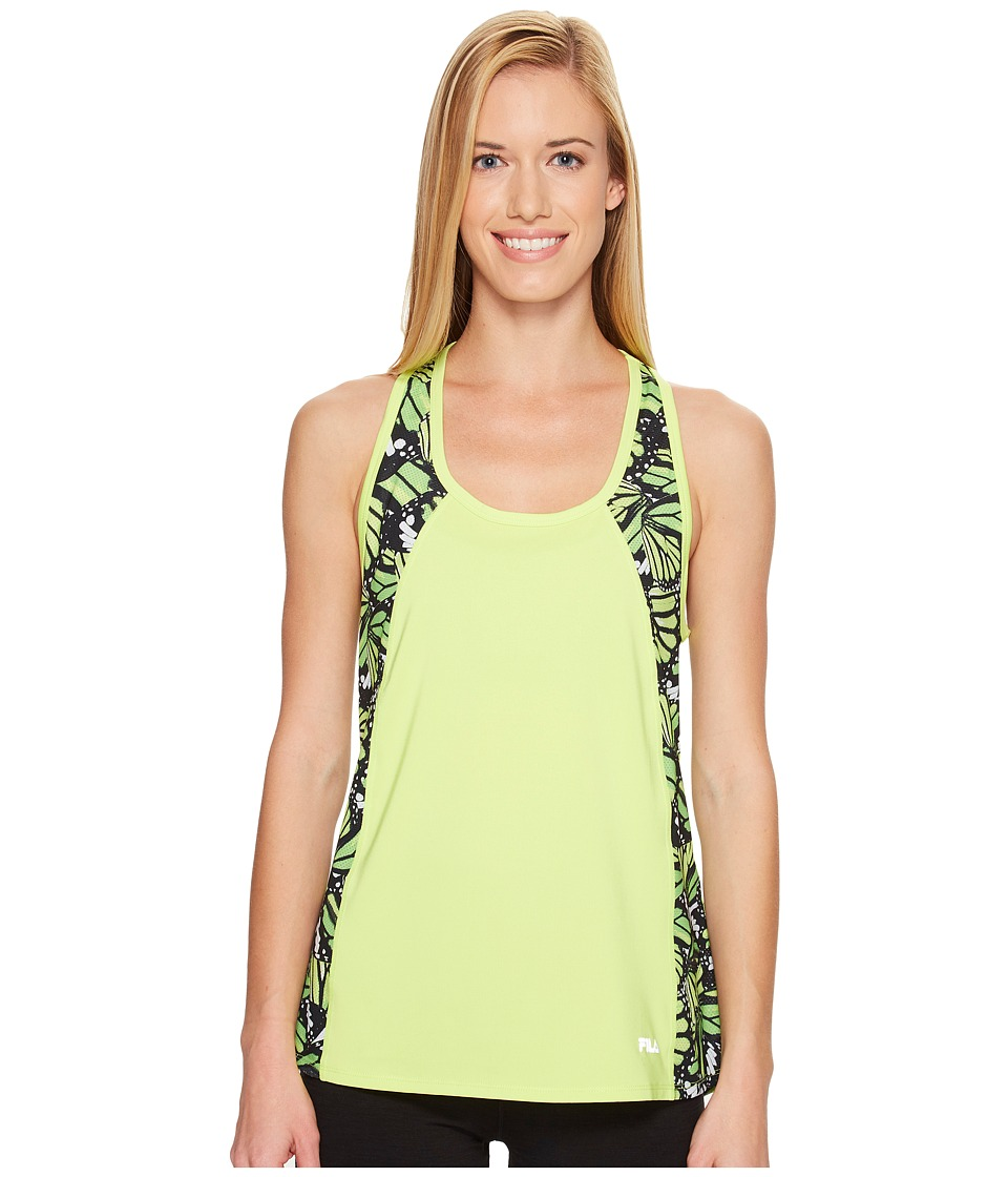 Fila - Going Out Singlet (Sharp Green/Butterfly Print) Women's Sleeveless