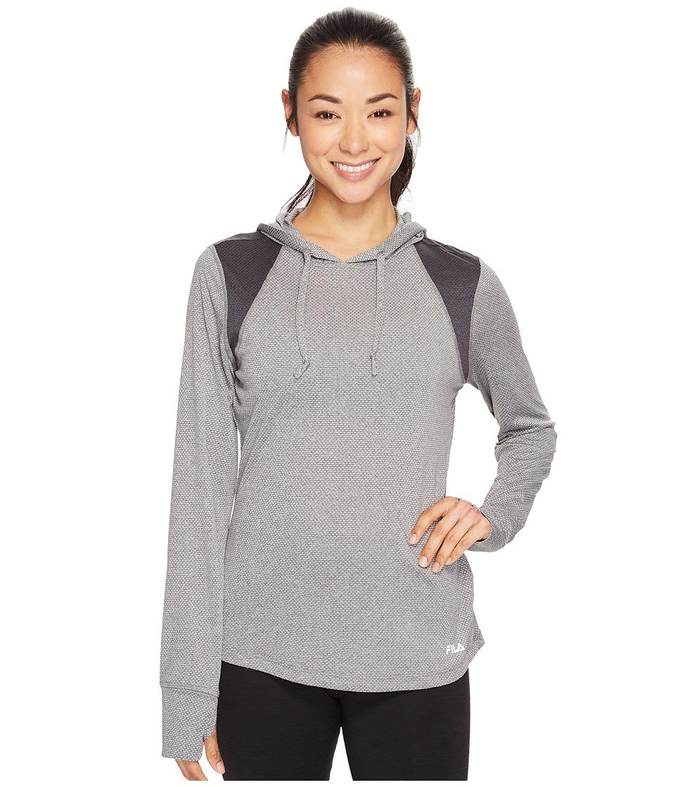 Fila Style Watch Pullover (Varsity Heather/Black Heather) Women