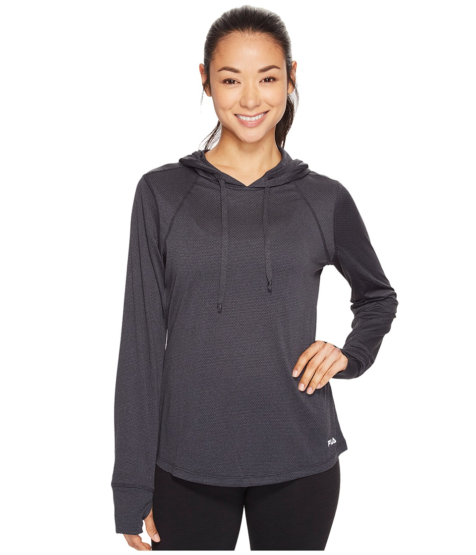 Fila - Style Watch Pullover (Black Heather/Black Heather) Women's Long Sleeve Pullover
