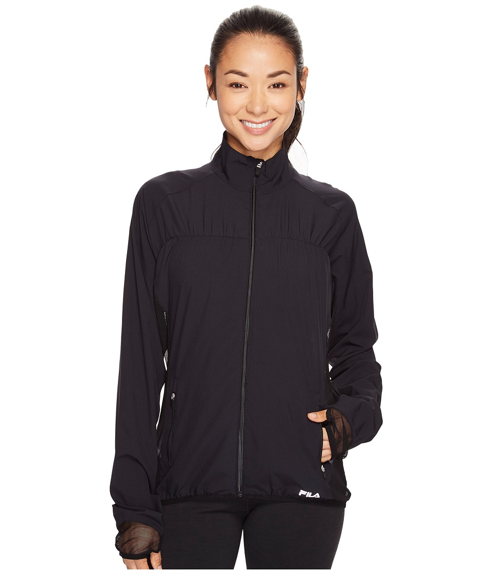 Fila - Camera Ready Jacket (Black/Black) Women's Coat