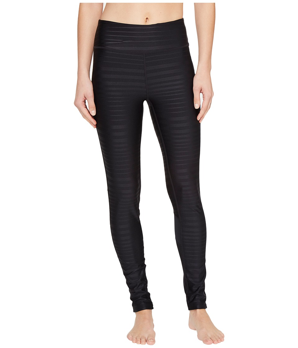 Fila - Tonal Stripe Leggings (Black) Women's Casual Pants