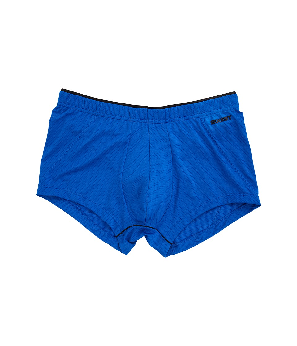 2(X)IST - Tech Micro Mesh No Show Trunk (Lapis Blue) Men's Underwear