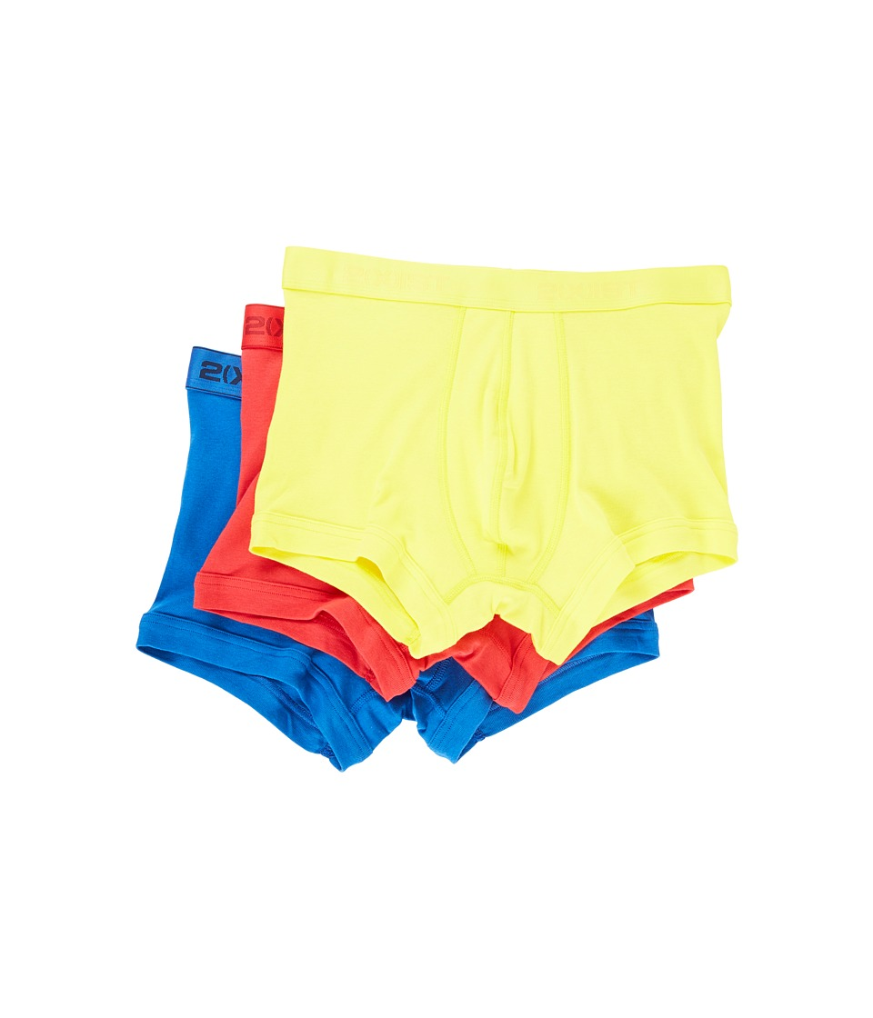 2(X)IST - 3-Pack ESSENTIAL No-Show Trunk (Blazing Yellow/Formula One/Lapis) Men's Underwear