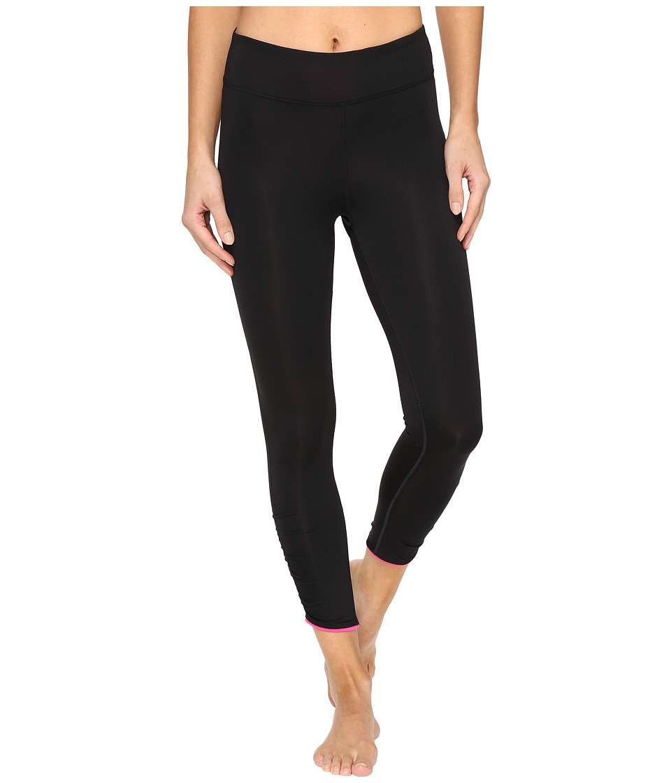 Fila - In Play 3/4 Tights (Black/Pink Glo) Women's Casual Pants