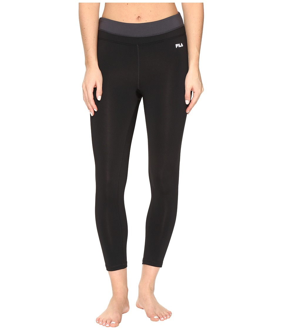 Fila - Get Up and Go 3/4 Tights (Black/Black/Ebony) Women's Casual Pants