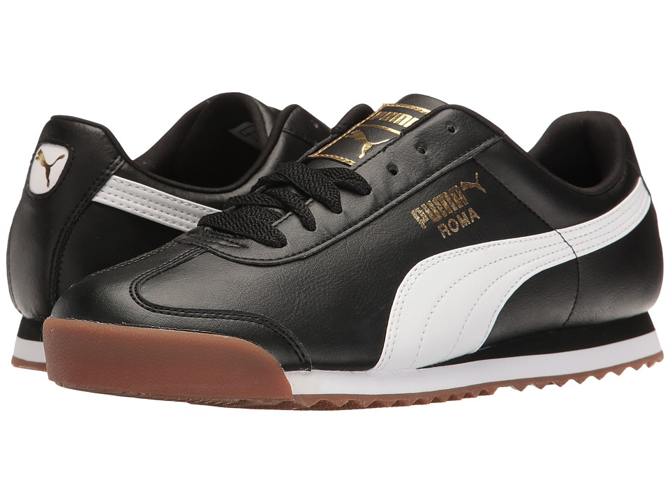 PUMA - Roma Basic Gold (Puma Black/Puma White) Men's Shoes
