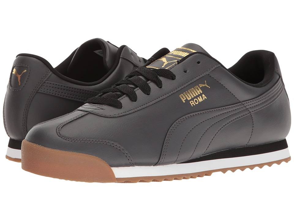 PUMA - Roma Basic Gold (Asphalt/Asphalt) Men's Shoes