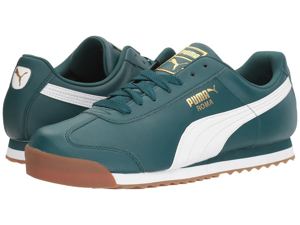 PUMA - Roma Basic Gold (Deep Teal/Puma White) Men's Shoes