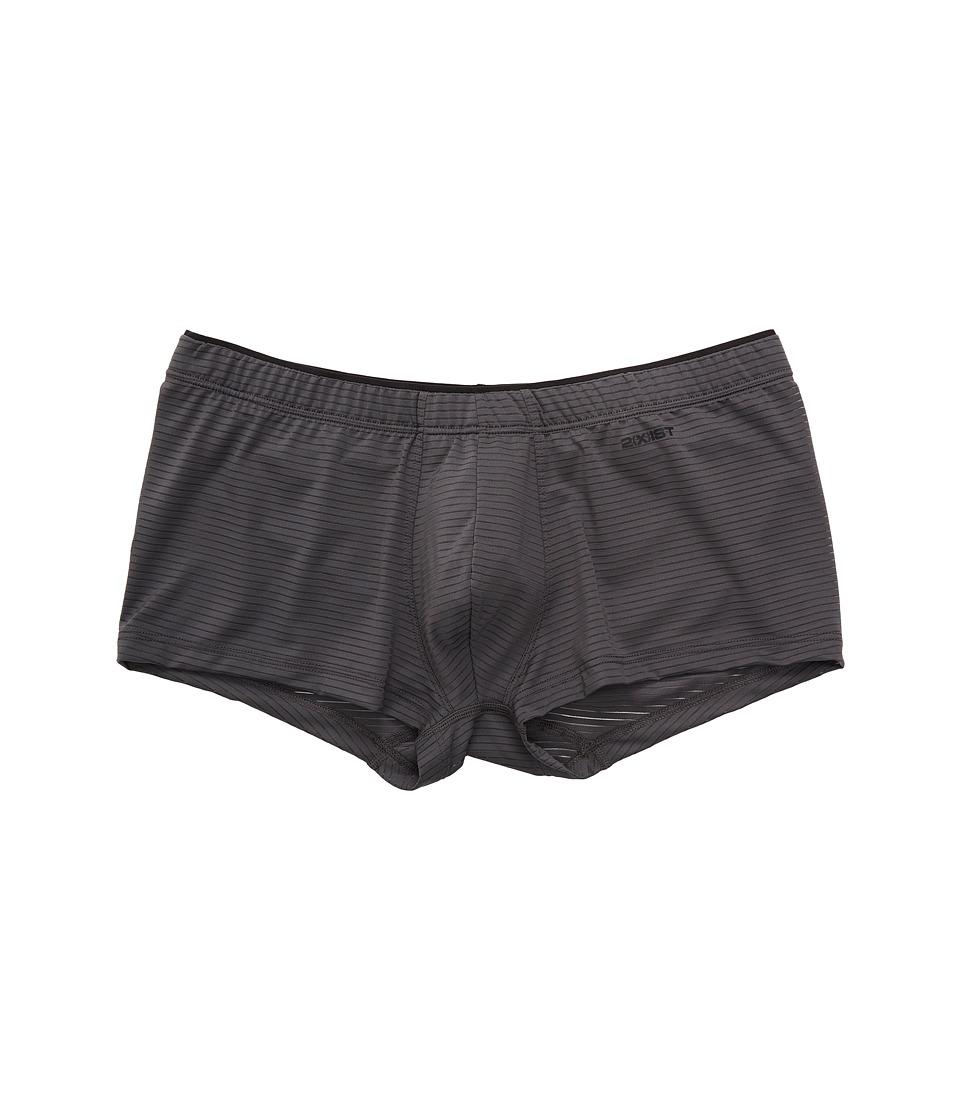 2(X)IST - Sliq Micro Sliq Trunk (Jet Gray) Men's Underwear