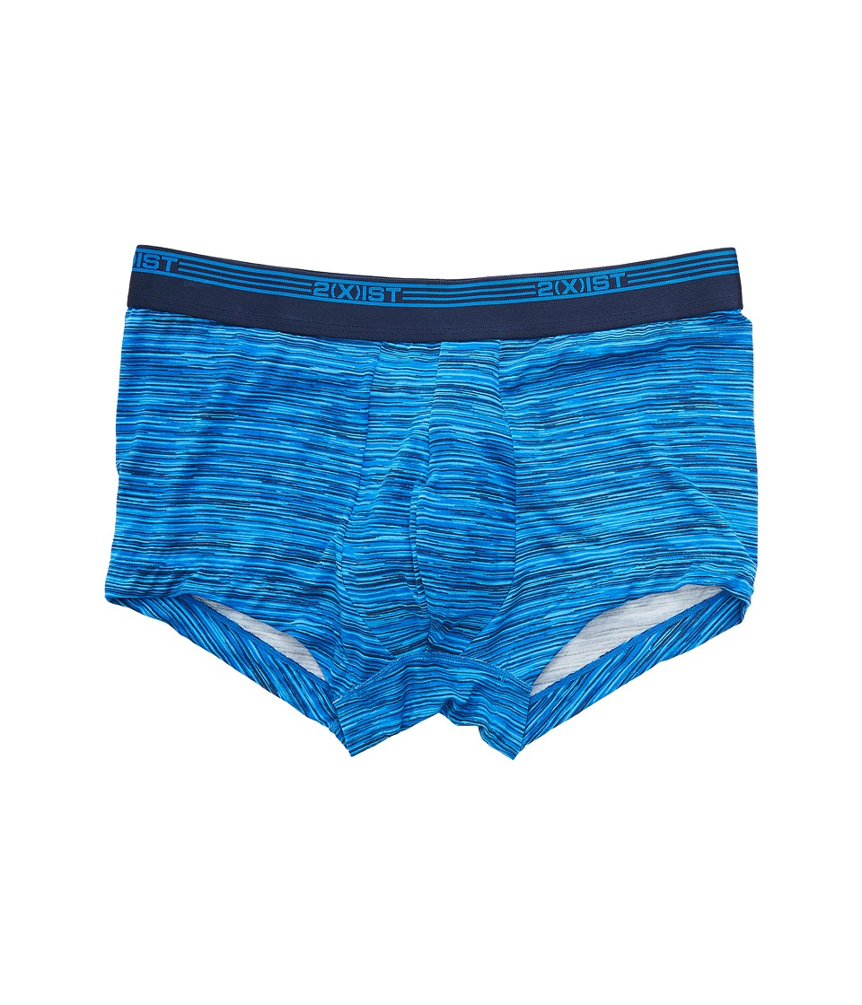 2(X)IST - Mod Modal No Show Trunks (Spacer/Lapis Blue) Men's Underwear