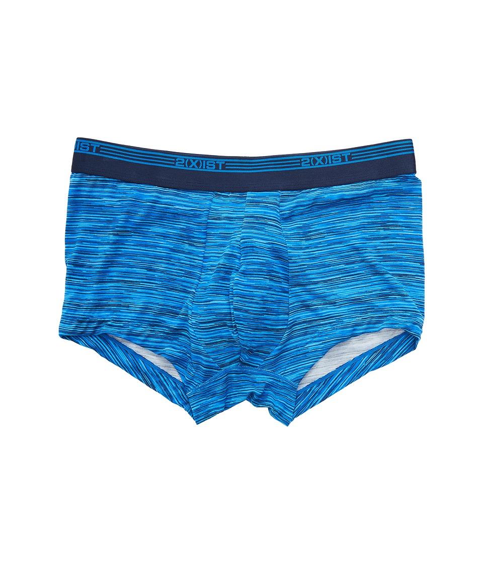 2(X)IST - Mod Modal No Show Trunks (Spacer/Lapis Blue) Men's Underwear