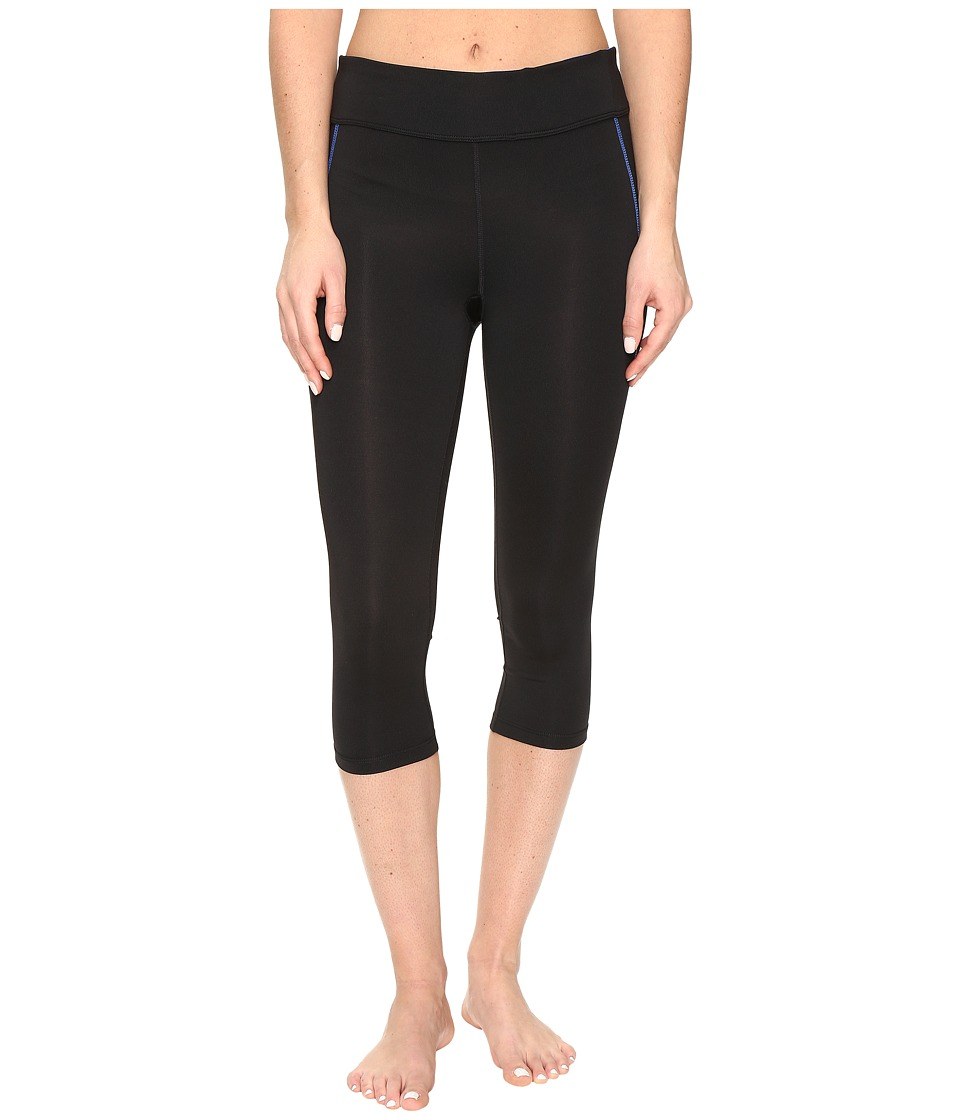 Fila - Spirit Tight Capris (Black/Blue Fish) Women's Casual Pants