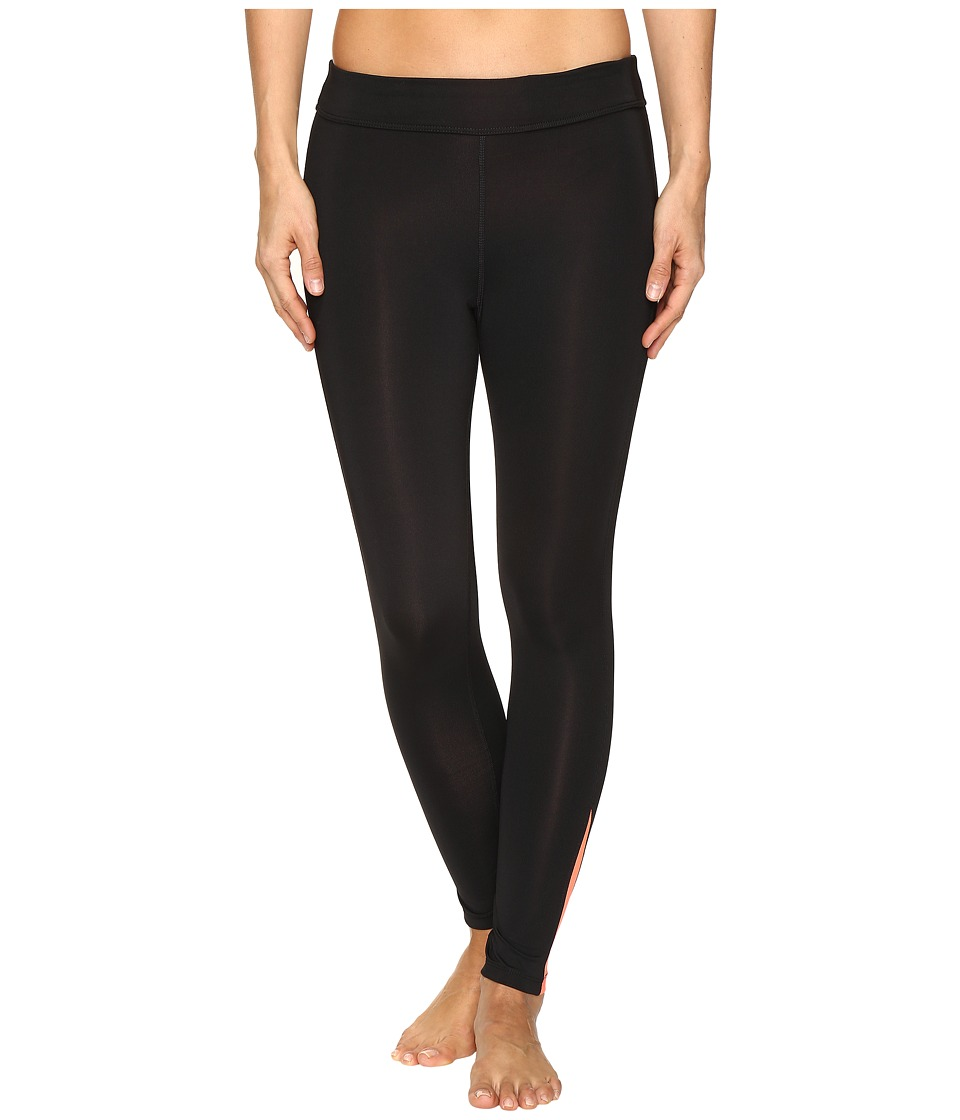 Fila - Dynamic 3/4 Tights (Black/Bursting Marmalade) Women's Casual Pants