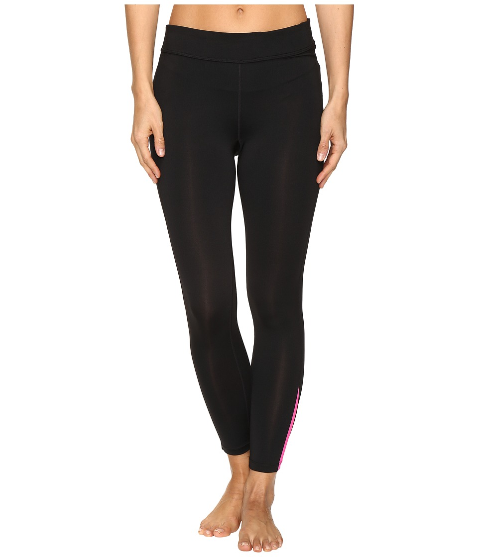 Fila - Dynamic 3/4 Tights (Black/Pink Glo) Women's Casual Pants
