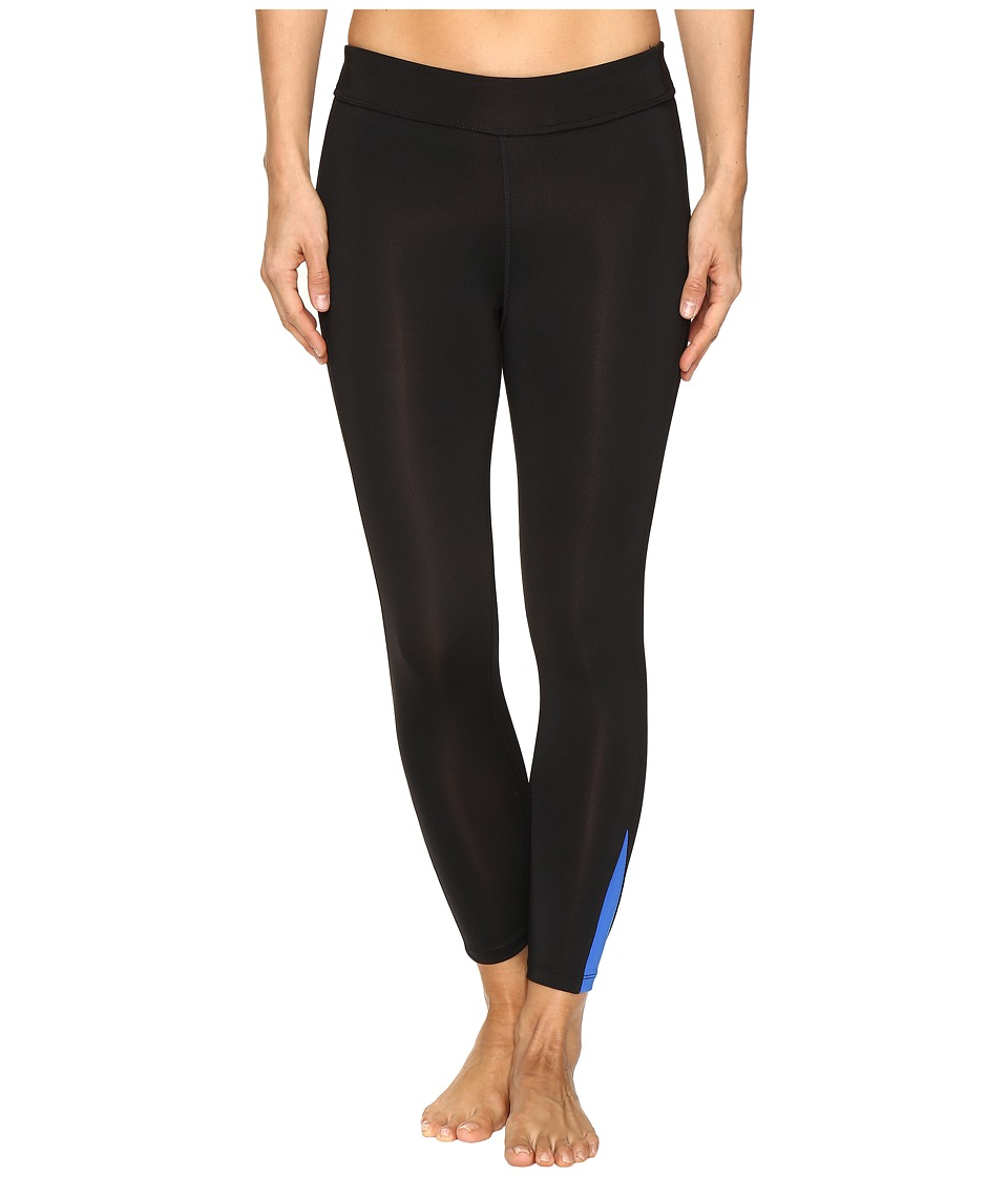Fila - Dynamic 3/4 Tights (Black/Blue Fish) Women's Casual Pants
