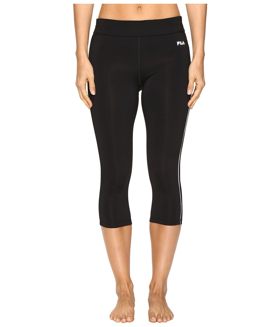 Fila - Energy Tight Capris (Black/White) Women's Capri