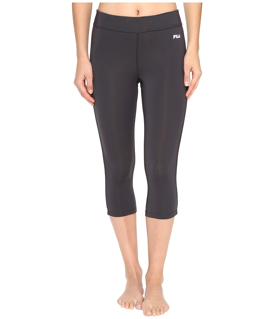 Fila - Energy Tight Capris (Ebony/Ebony) Women's Capri
