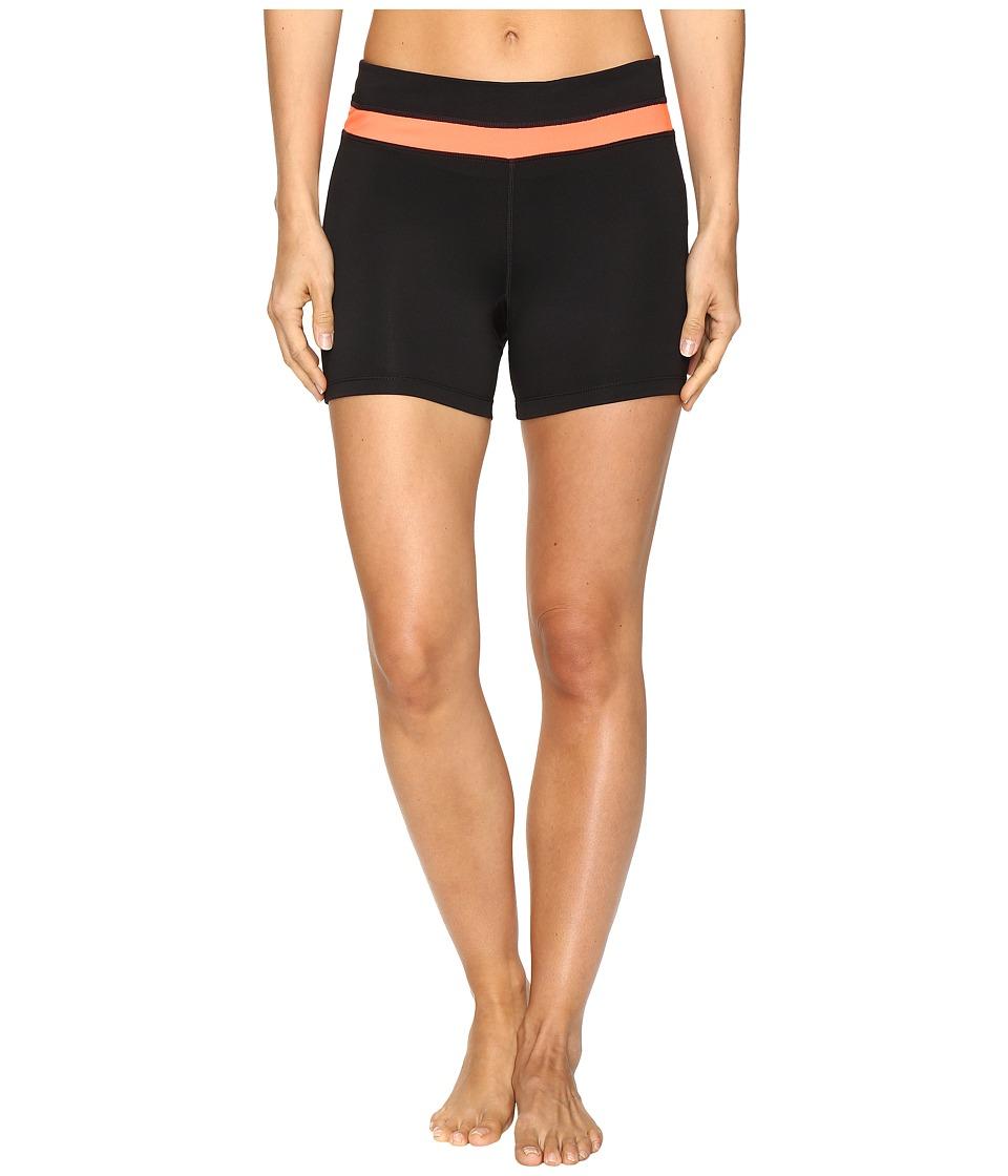 Fila - Breakout Booty Shorts (Black/Bursting Marmalade) Women's Shorts