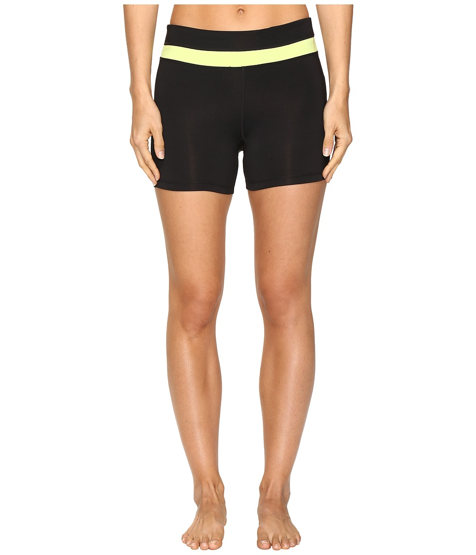 Fila - Breakout Booty Shorts (Black/Sharp Green) Women's Shorts