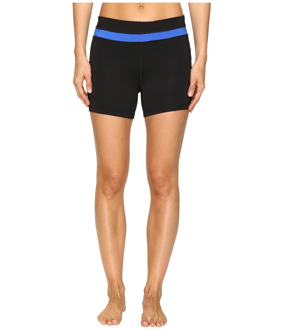 Fila - Breakout Booty Shorts (Black/Blue Fish) Women's Shorts