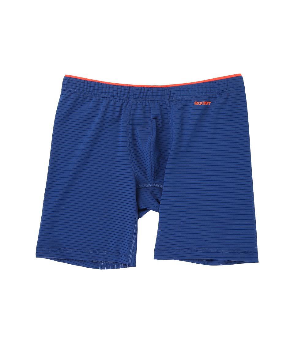2(X)IST - Sliq Micro Sliq Long Leg Boxer Brief (Estate Blue) Men's Underwear