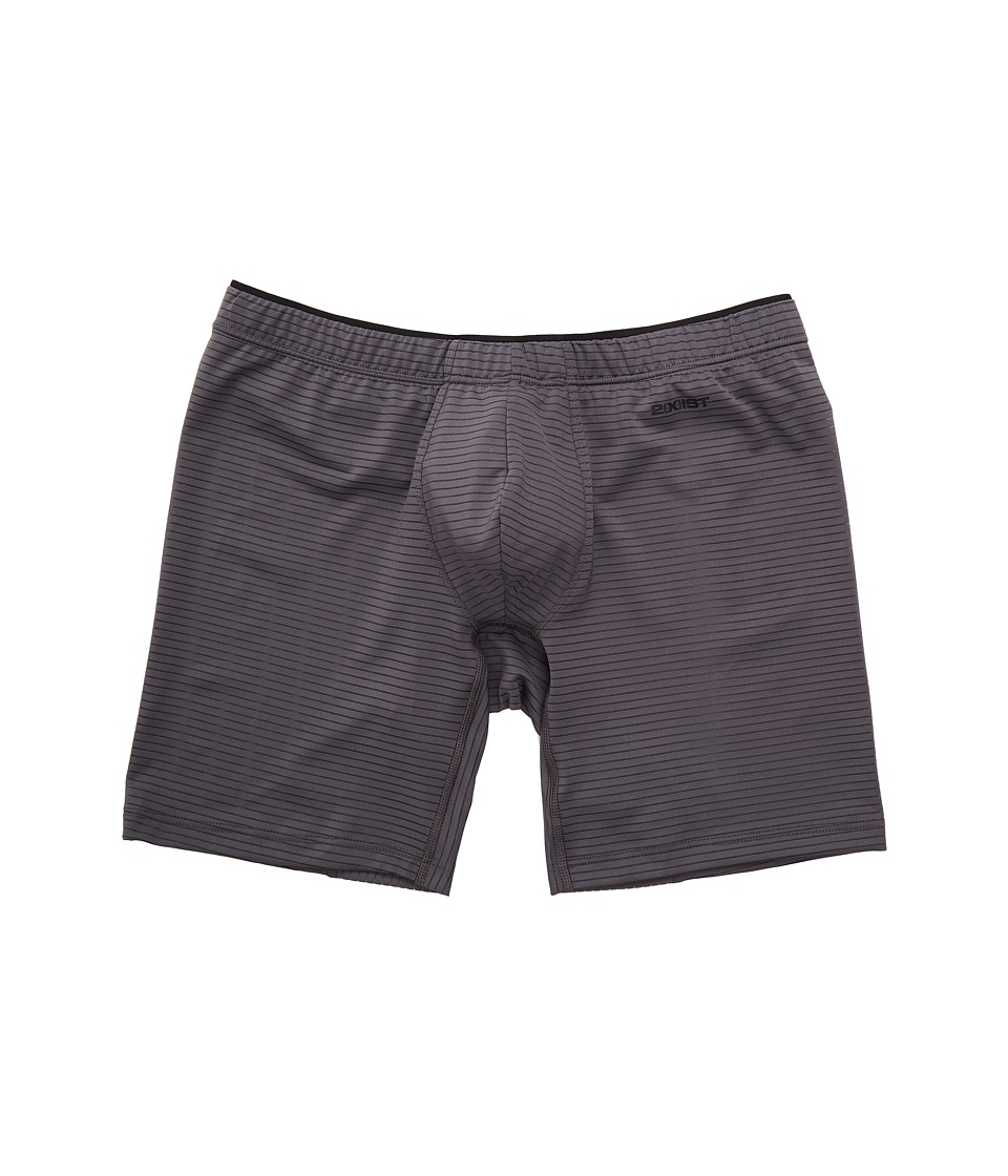 2(X)IST - Sliq Micro Sliq Long Leg Boxer Brief (Jet Gray) Men's Underwear