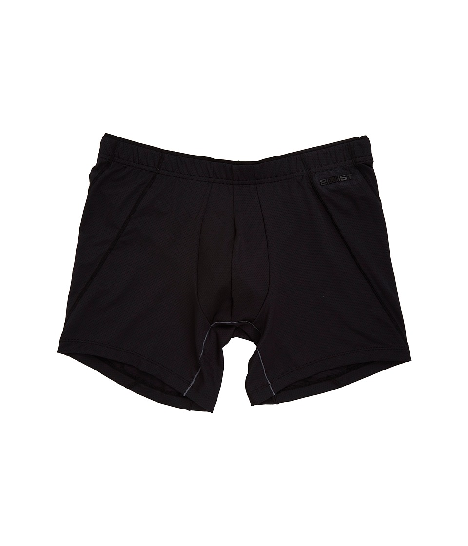 2(X)IST - Tech Micro Mesh No Show Boxer Brief (Black) Men's Underwear